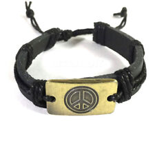 Peace Leather Bracelet Wrist Cuff Band Friendship Surfer Hipple UNISEX