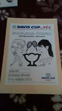 DAVIS CUP 1991, YUGOSLAVIA v SWEDEN, PROGRAMME + TICKET