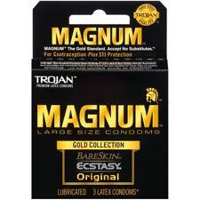 Trojan Magnum Gold Collection BareSkin Ecstasy Original Large Condoms - 3 Pack