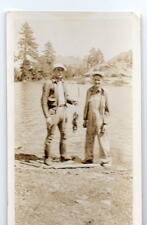 """Crystal Lake CA 2 Guys with Fish """"We Have Big Fish Out Here"""" NOT Photo 1930s"""