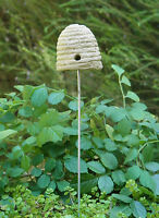Miniature Dollhouse FAIRY GARDEN ~ Bee Hive Skep Pick ~ NEW