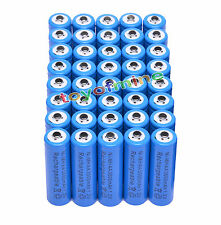 Celular 40x AA 3000mAh 1.2V Ni-MH 2A color azul Batería recargable para MP3