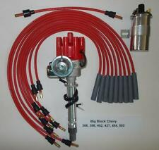 CHEVY BIG BLOCK 396-427-454 RED Small Female HEI Distributor+45K Coil+Plug Wires