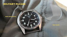 PULSAR MILITARY WATCH REPLACEMENT mineral GLASS crystal mod g10