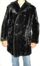 VINTAGE CAMPUS COAT  FAUX MINK FIR COAT  LATE 1960's SIZE 40 Made in USA