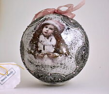 Hand Decorated Christmas Ornament with Swarovski