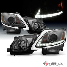 For 06-11 GS300 GS350 Smoked HID Xenon Headlights Daytime Running DRL LED Strip