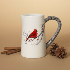 2349230 Winter Cardinal on Berry Branch Water Beverage Pitcher Christmas Bird