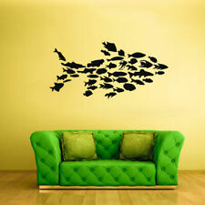 Wall Decal Sticker Sea Ocean Orca Dolphin Fish Whale Animals  Tribal (Z1844)