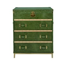 Green Crunch Leather Home Living Room Chest Of Drawer