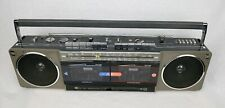 JVC Stereo Cassette Recorder RC-W3JW-C Multi Band Portable Radio Boombox TESTED
