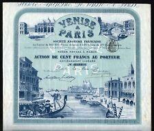 1899 France/Italy: Venise a Paris Societe Anonyme Francaise