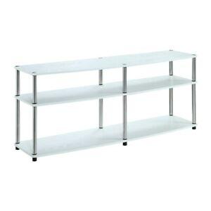 "Convenience Concepts Designs2Go 3 Tier 60"" TV Stand, White - 131060W"
