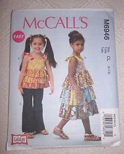 McCalls Pattern M6946 Girls Top, Dress, Pants  **NEW