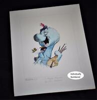 Ken Anderson SIGNED Walt Disney Legend Disneyland Artist Ltd Edtn 312 Litho 1992