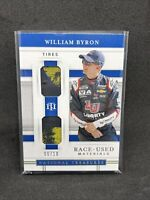 William Byron 2020 National Treasures Gold Race-Used Tire Relic 6/10 NASCAR