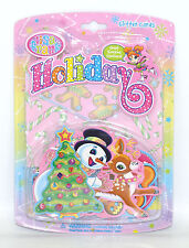 Lisa Frank Holiday Christmas Glitter Card Notecards Stickers Paper Craft Set NIP