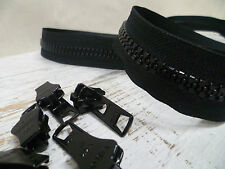YKK Zip & Sliders - Chunky No.10 - Continuous - Black - 1 Metre + 2 Sliders