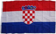 Flagge Kroatien 250 x 150 cm mit Wappen und 3 Metall Ösen Fahne Hissfahne