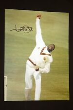 Curtly Ambrose Hand Signed Cricket 12 x16 Photograph : E