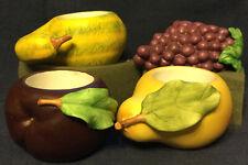 4 Small Ceramic Succulent Flower Pot Planters Fruit Shaped Indoor