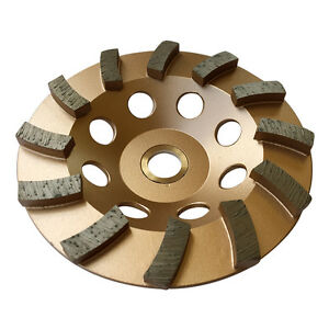 "5"" Concrete Grinding Cup Wheels 12 Diamond Abrasive Seg 7/8""-5/8"" Arbor"