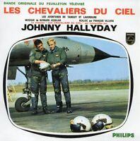 CD Single Johnny HALLYDAY Les chevaliers du ciel (Pochette Couleur) 4-track RARE