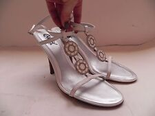 Carlos by Carlos Santana~Encore~White Leather Heels Sandals sz 9~worn 1x