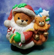 """New ListingEnesco Lucy and Me Lucy Rigg Santa bear with toy bag Prototype Rare 3.25"""""""