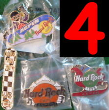 4 Hard Rock Cafe ASPEN (CLOSED) PINS Collection LOT Snowboard Logo Christmas +