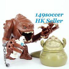Star Wars Mini Figures Jabba the Pet Rancor Jabble the hutt Custom Lego