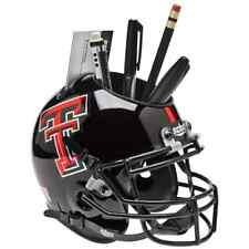 TEXAS TECH RED RAIDERS NCAA Schutt Mini Football Helmet DESK CADDY (CHROME)