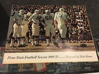 1969-70 PENN STATE FOOTBALL SEASON PHOTOGRAPHS BY DICK BROWN YEARBOOK FRANCO