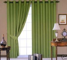 "90"" x 90"" Moss Green eyelet curtains"