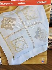 "Husqvarna Viking # 189- ""Heirloom Insertion Embroidery"" Cd"