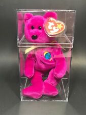 Authenticated Rare 1991 TY Beanie Baby - MILLENNIUM the Bear w/errors