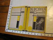 Vintage MARIONETTE Play: rare DE POPPEN VAN HARRY VAN TUSSENBROEK