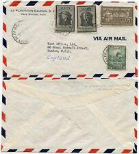 HAITI 1946 AIRMAIL to EAST AFRICA JOURNAL LONDON
