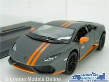 LAMORGHINI HURACAN LP610 MODEL CAR 1:36 SCALE GREY + CASE SPORTS KINSMART K8
