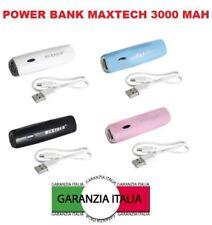 POWER BANK CARICABATTERIE PORTATILE USB 3000 MAH PER SMARTPHONE BATTERIA ESTERNA