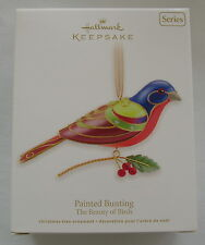 Hallmark 2012 Beauty of Birds #8 in Series Painted Bunting Christmas Ornament