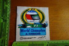 Alter Aufkleber 80/90er Formel Formula MICHAEL SCHUMACHER F1 World Champion