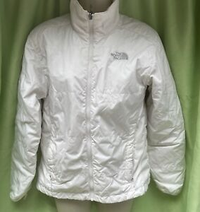 North Face White Size S Zipped Pockets High Collar Full Zip Sports Jacket