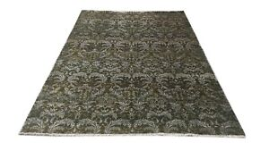 7.8 X 5.6 Hand Knotted Wool & Bamboo Silk Blend Luxuries Rug