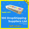✅ 100 DropShipping Suppliers List ✅ Only $0.99 ✅ Drop Shipping