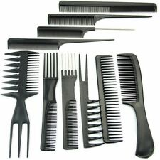10 Pcs/set Pro Hair Styling Brush Combs Hairdressing Barbers Beauty Plastic