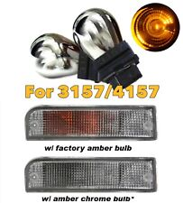 Stealth Chrome Bulb T25 3157 3057 4157 Amber Front Signal Light for Dodge Ram