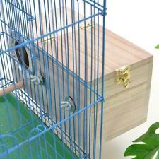 Parakeet Nest Box Bird House Wood Breeding For Lovebirds Parrotlets Matin I0C6