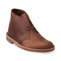 Clarks Men's Bushacre 2 Chukka Boots Dark Brown Leather