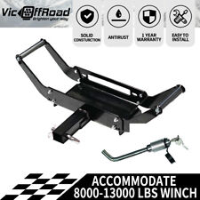 4WD Winch Cradle Mount Plate Bull Bar Steel Plus Hitch Pin Lock Ltype